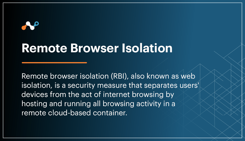 remote browser isolation RBI definition